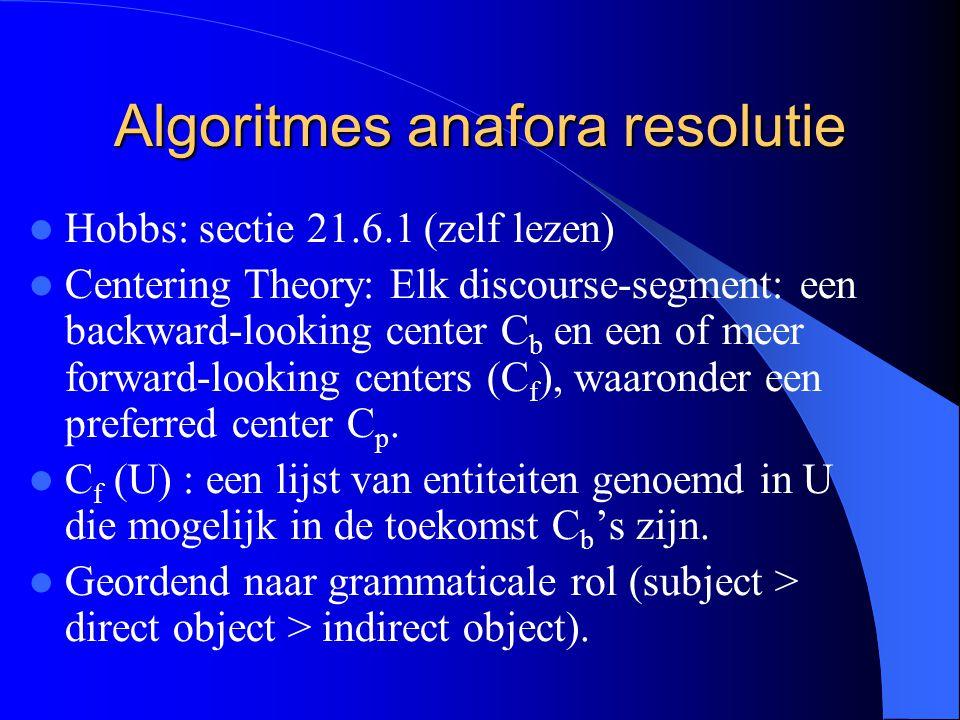 Algoritmes anafora resolutie