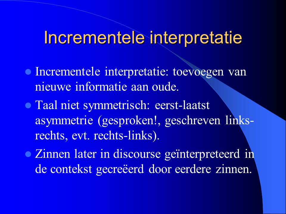 Incrementele interpretatie
