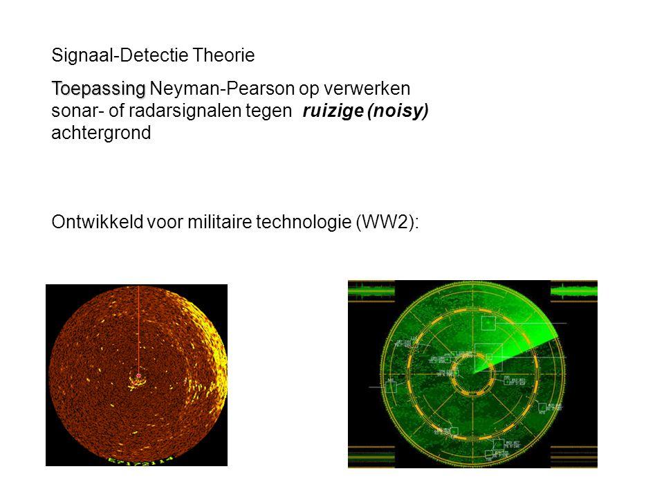 Signaal-Detectie Theorie
