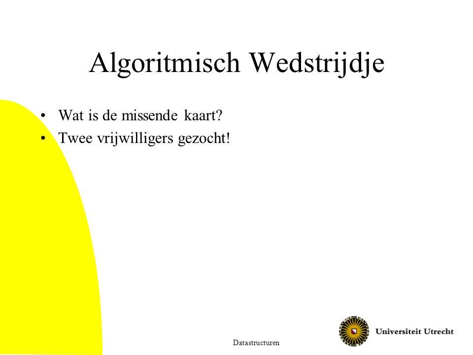 Algoritmisch Wedstrijdje