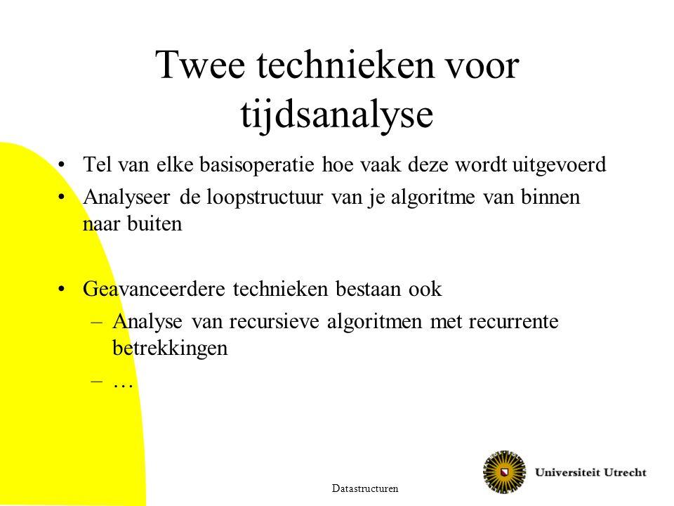 Twee technieken voor tijdsanalyse