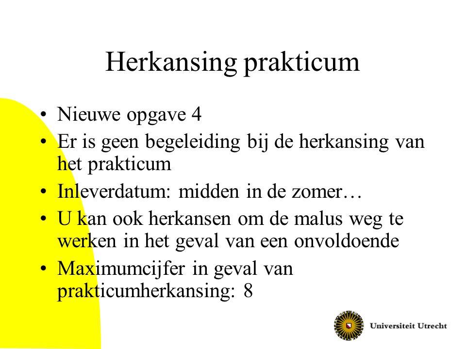 Herkansing prakticum Nieuwe opgave 4
