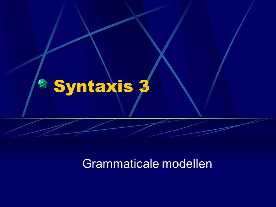 Grammaticale modellen