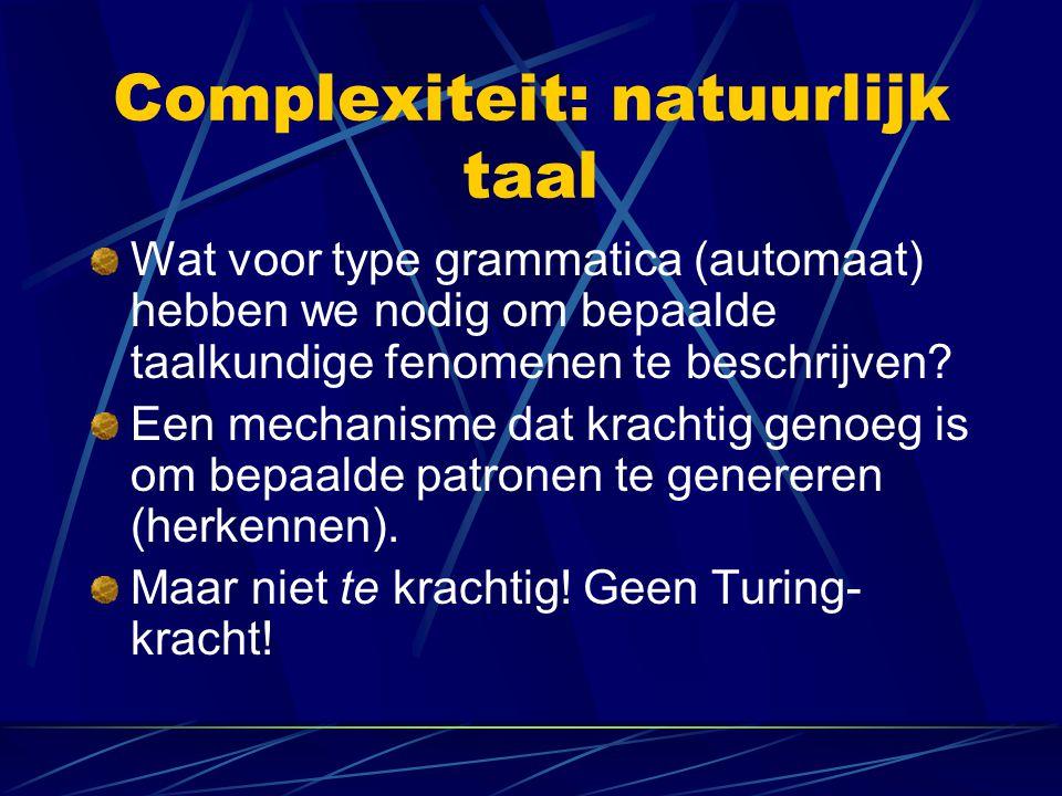 Complexiteit: natuurlijk taal