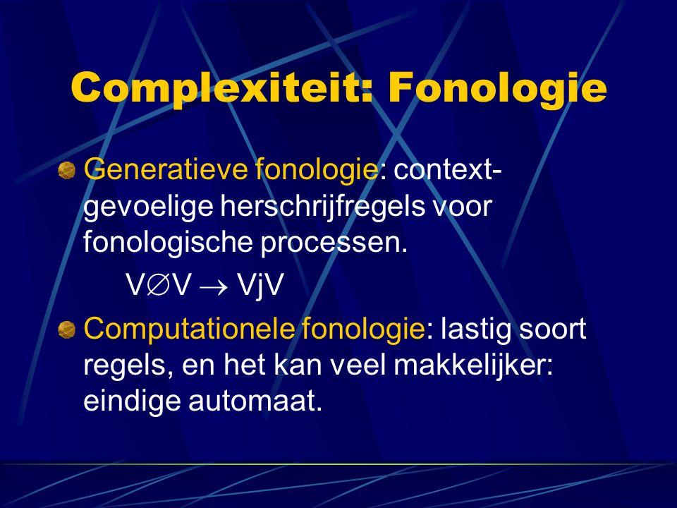 Complexiteit: Fonologie