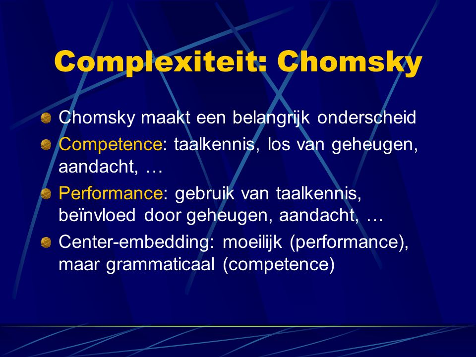 Complexiteit: Chomsky