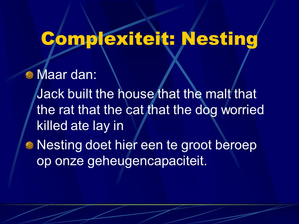 Complexiteit: Nesting