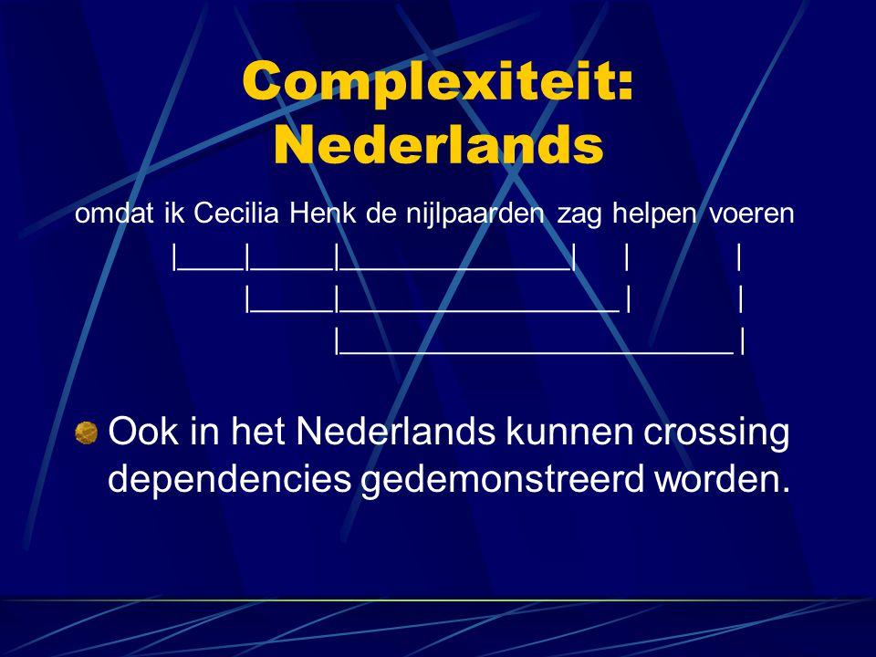 Complexiteit: Nederlands