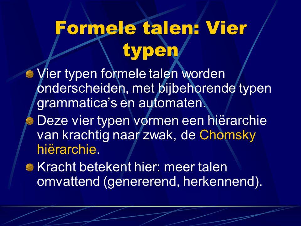 Formele talen: Vier typen