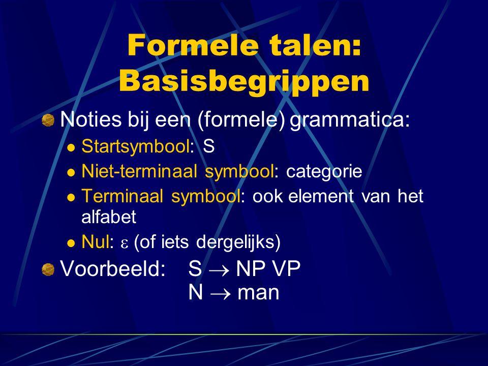 Formele talen: Basisbegrippen