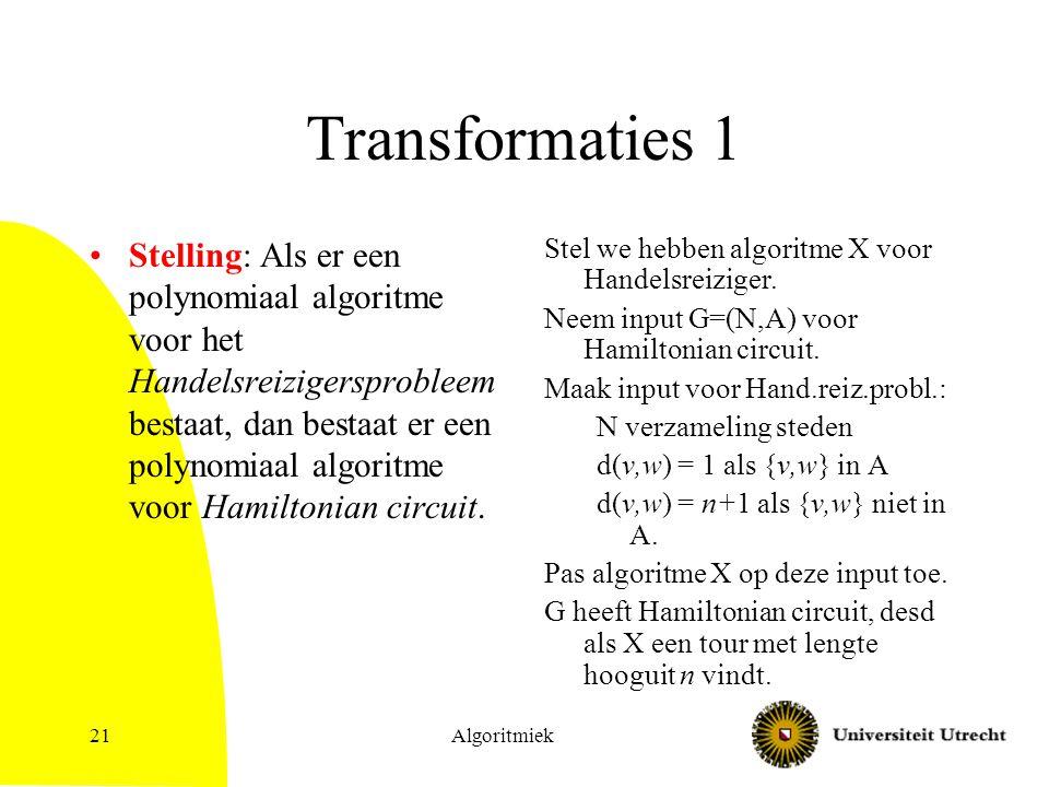 Transformaties 1