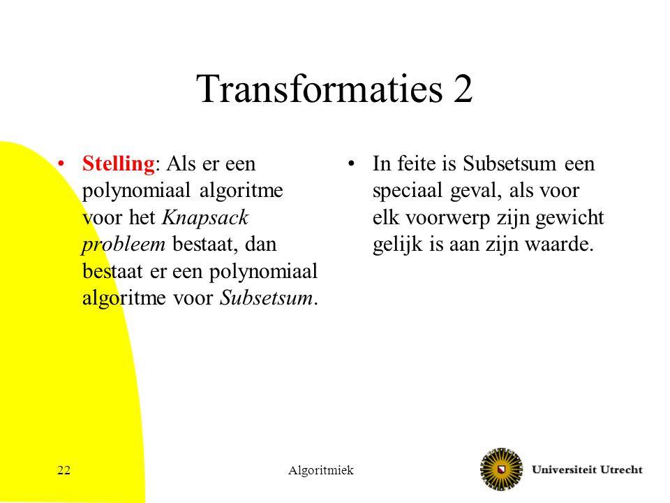 Transformaties 2