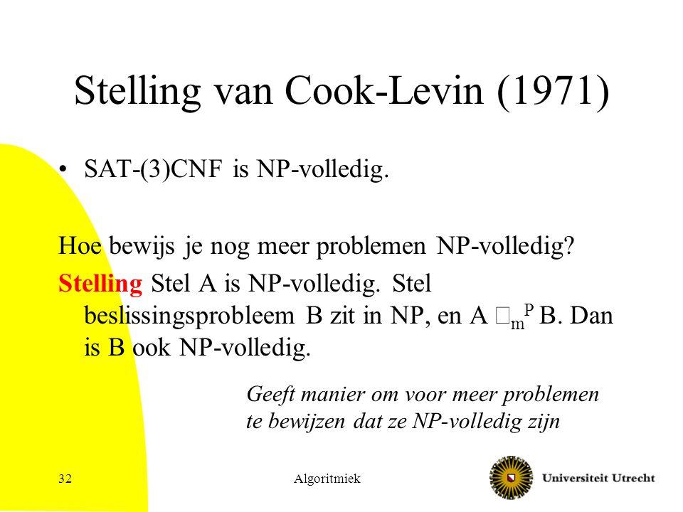 Stelling van Cook-Levin (1971)