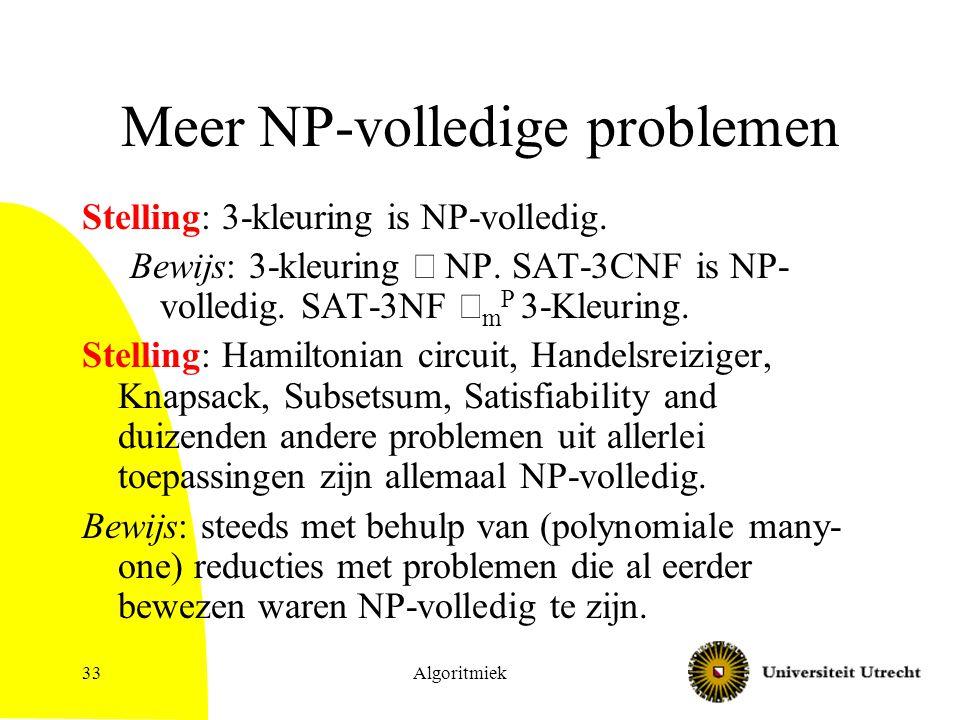 Meer NP-volledige problemen