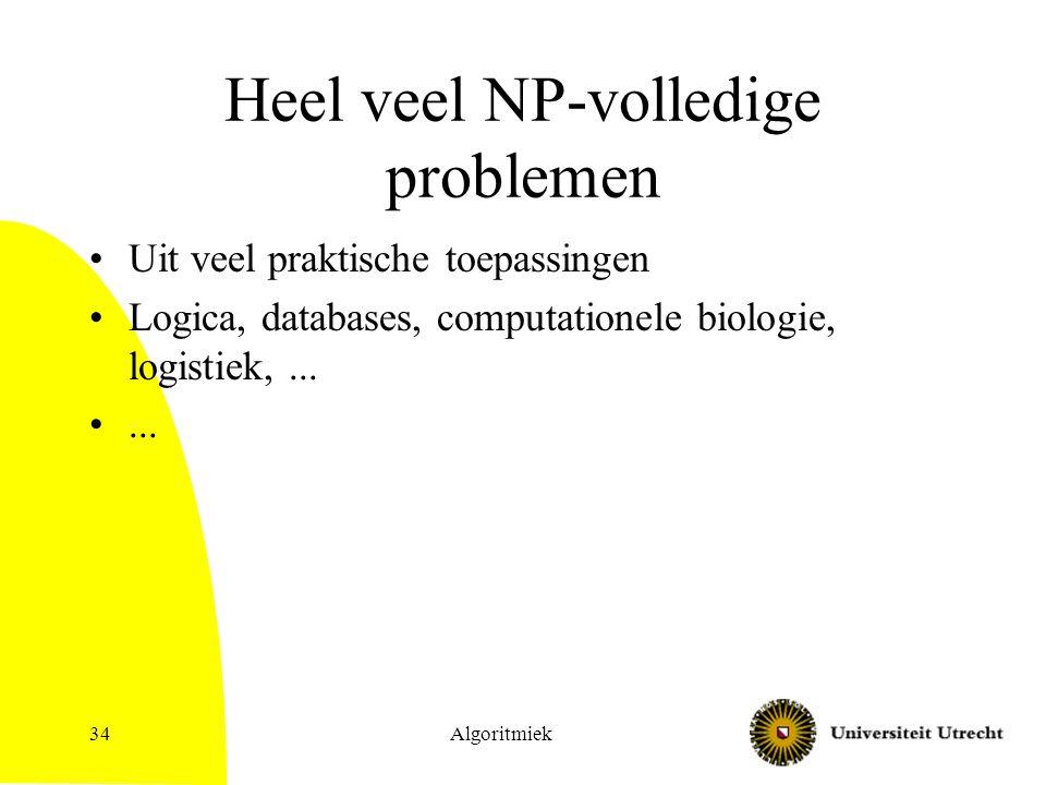 Heel veel NP-volledige problemen
