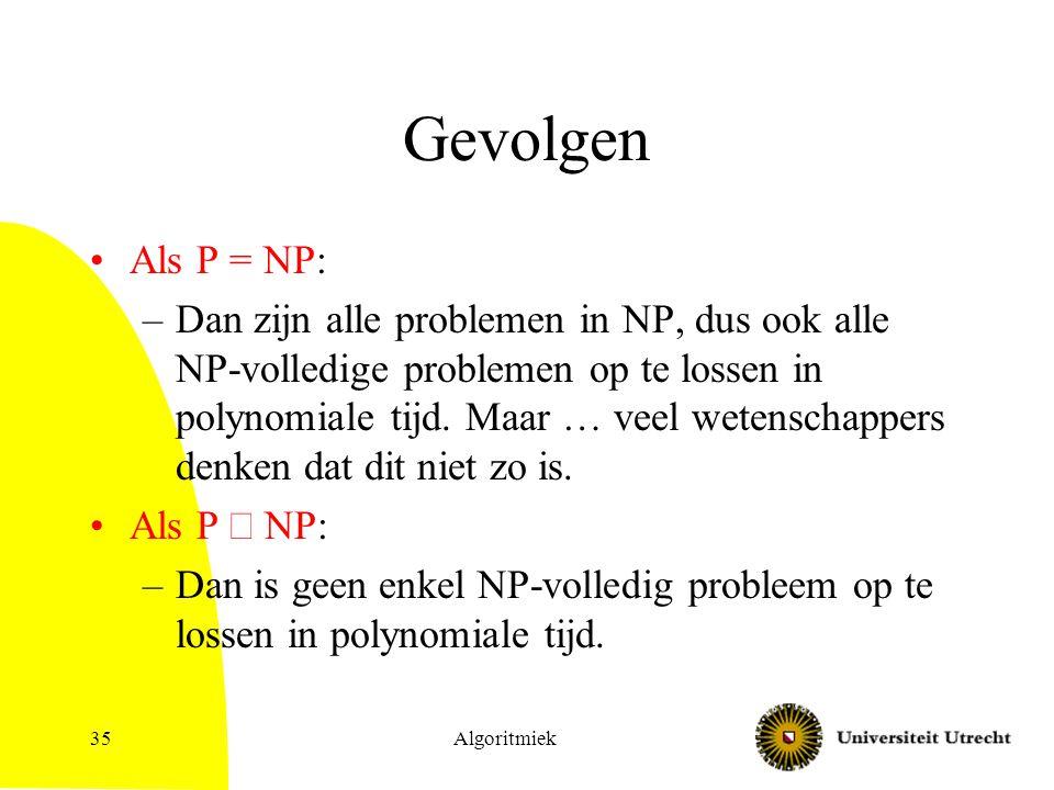 Gevolgen Als P = NP:
