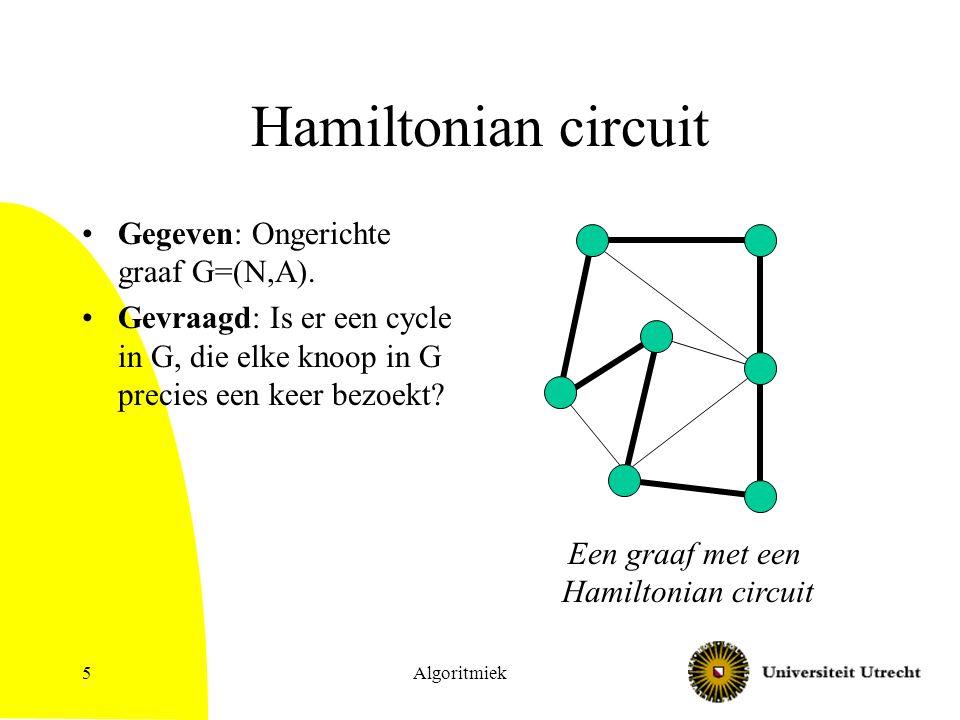 Een graaf met een Hamiltonian circuit