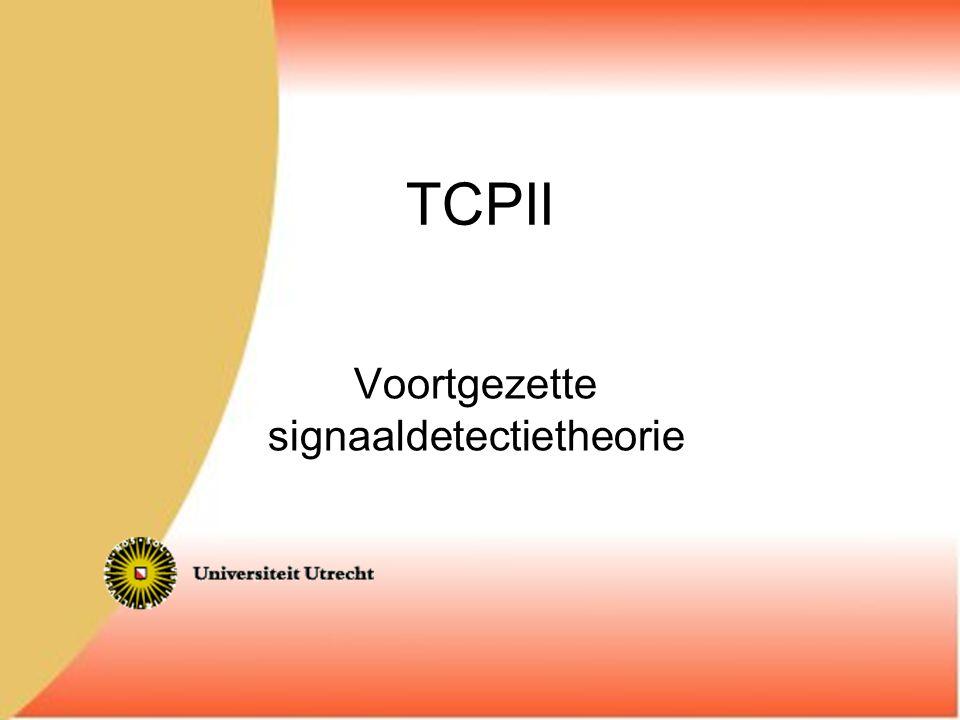 Voortgezette signaaldetectietheorie