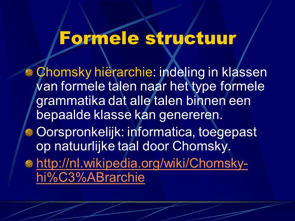 Formele structuur