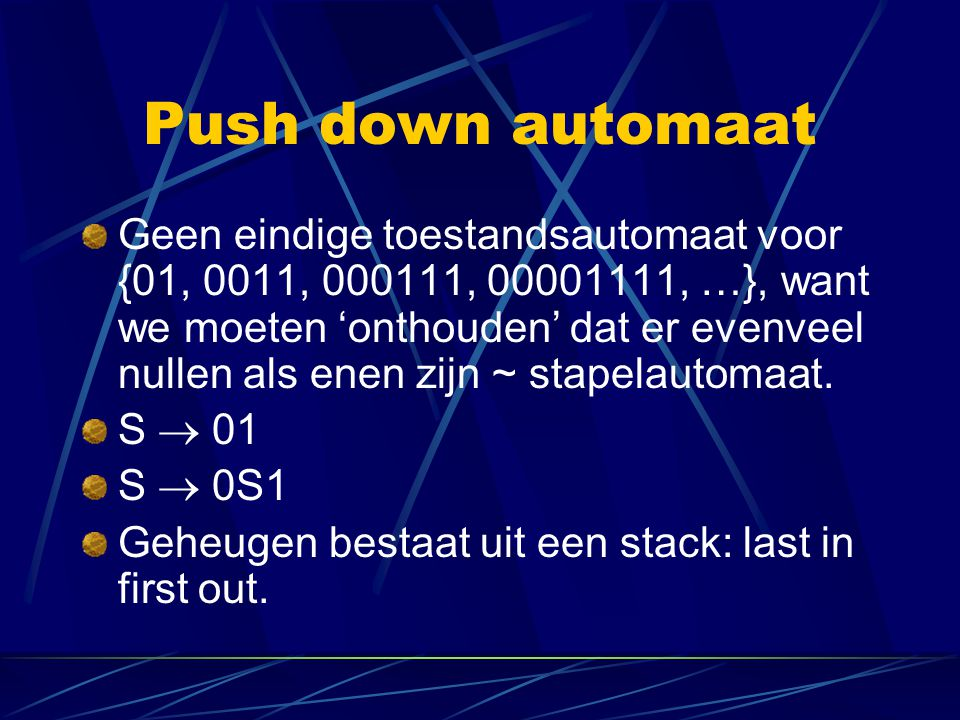 Push down automaat