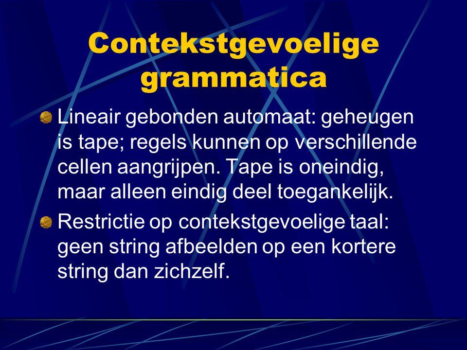 Contekstgevoelige grammatica