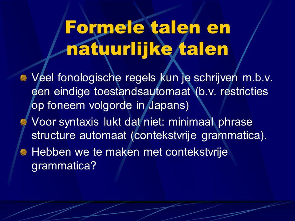 Formele talen en natuurlijke talen