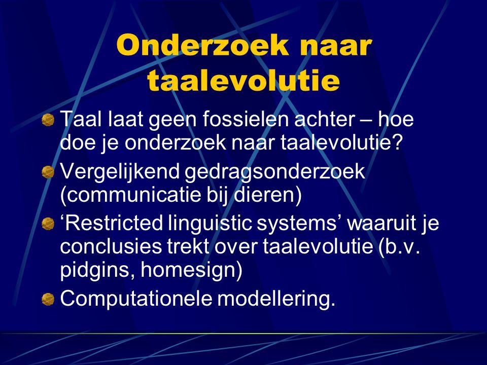 Onderzoek naar taalevolutie