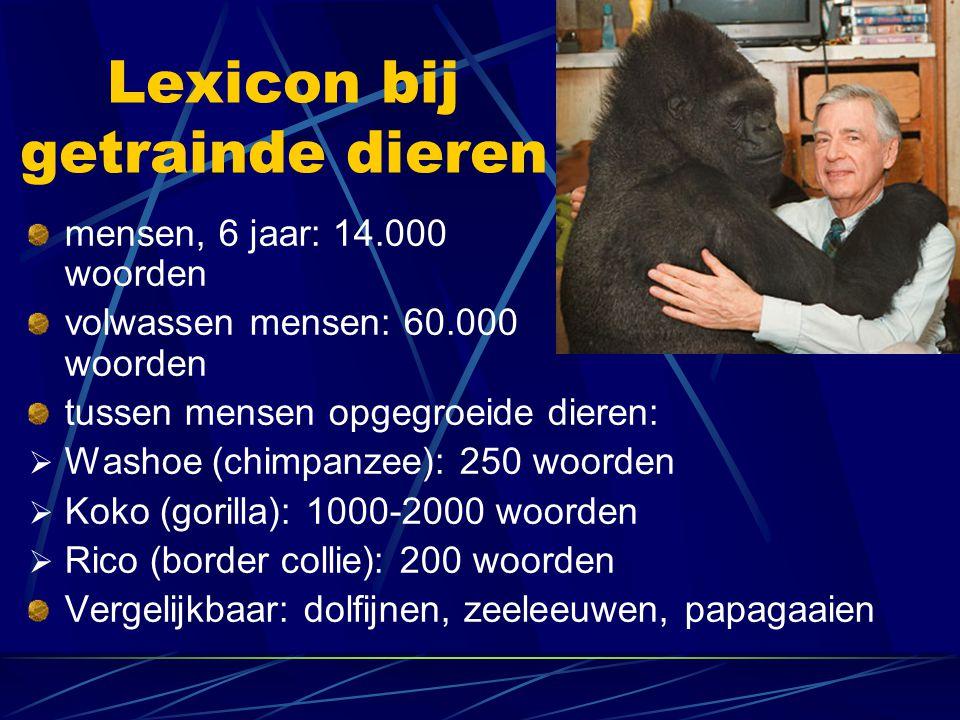 Lexicon bij getrainde dieren