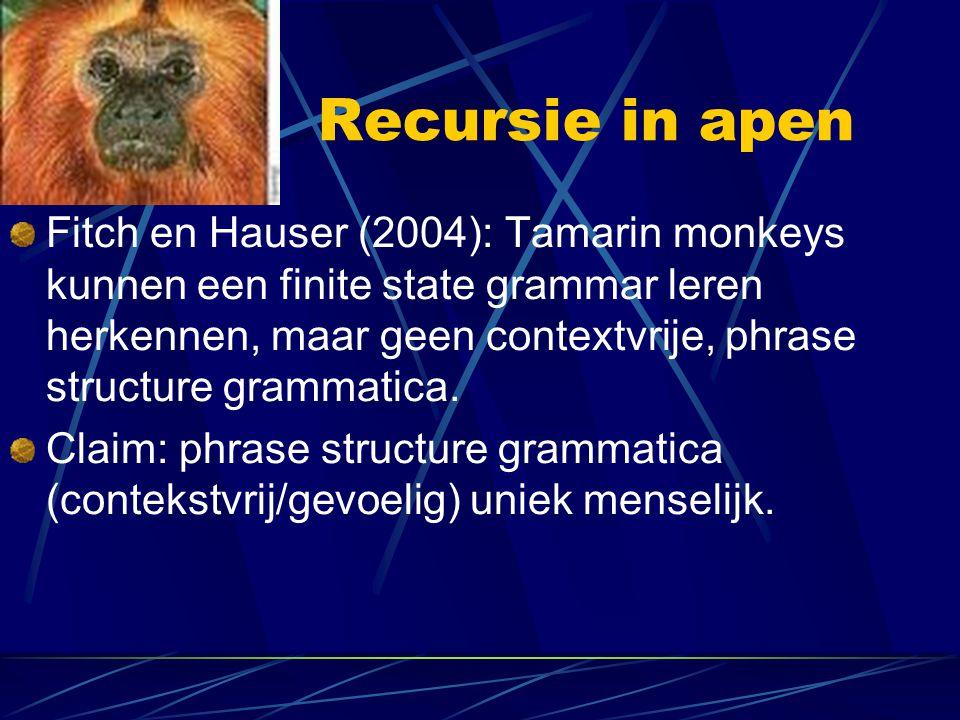 Recursie in apen
