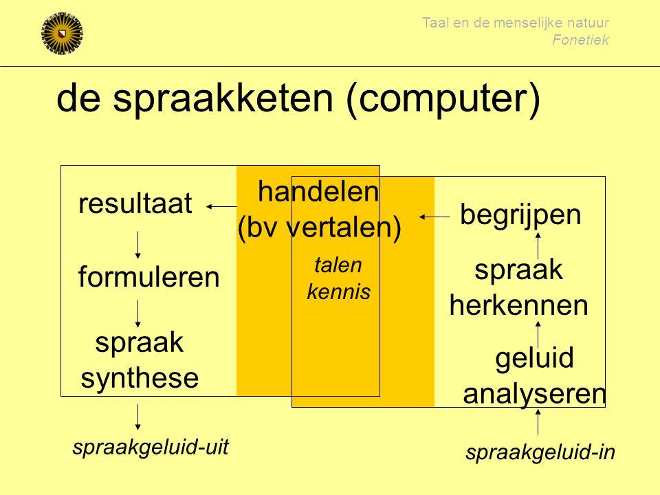 de spraakketen (computer)