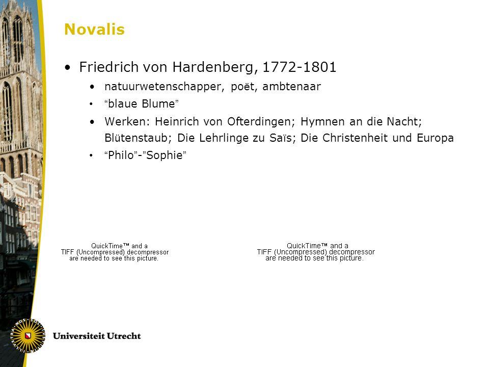 Novalis Friedrich von Hardenberg, 1772-1801
