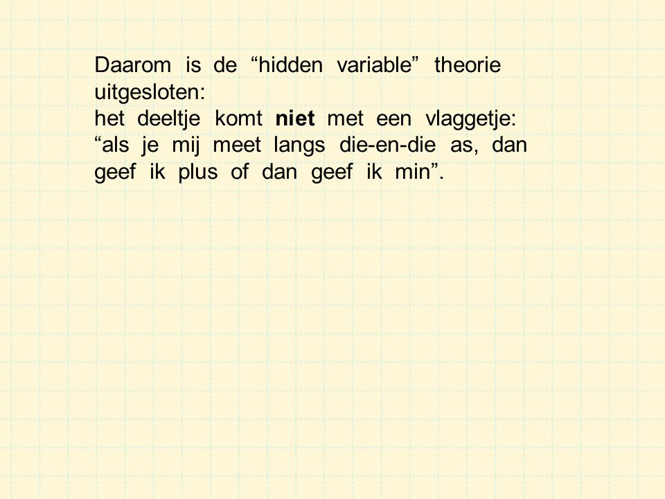 Daarom is de hidden variable theorie