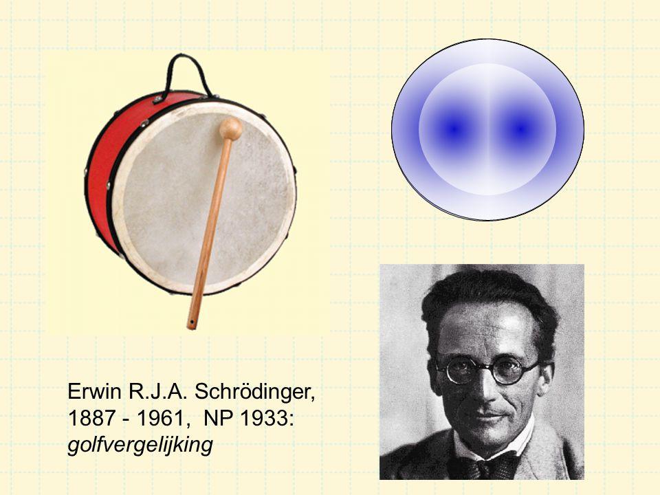Erwin R.J.A. Schrödinger, 1887 - 1961, NP 1933: golfvergelijking
