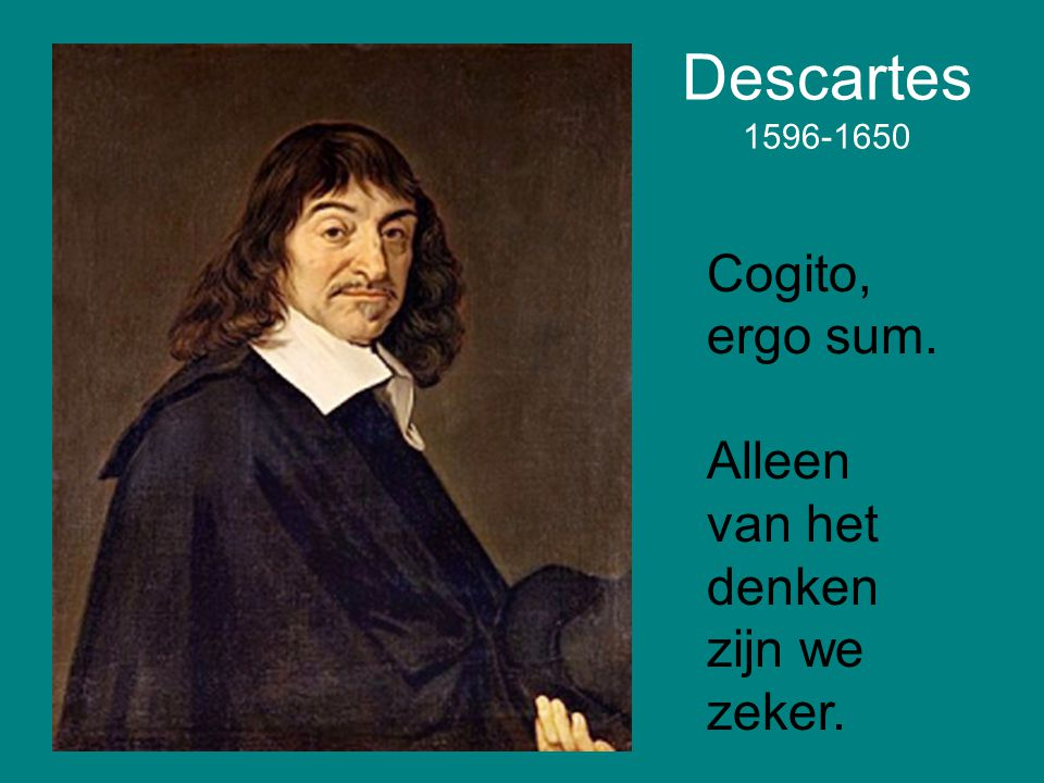 an analysis of descartes cogito ergo sum argument