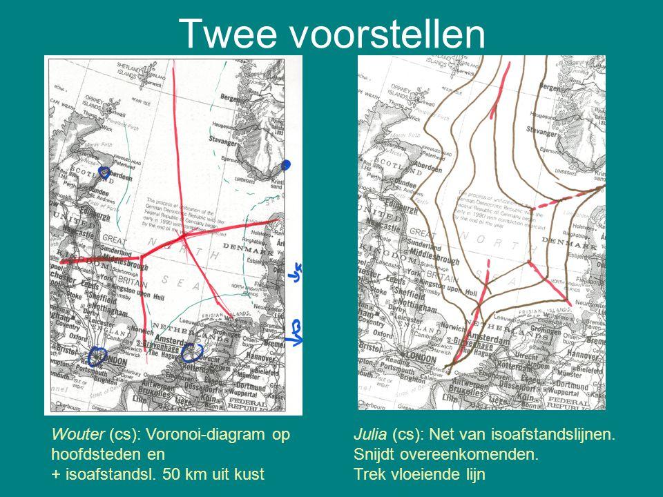 Twee voorstellen Wouter (cs): Voronoi-diagram op hoofdsteden en
