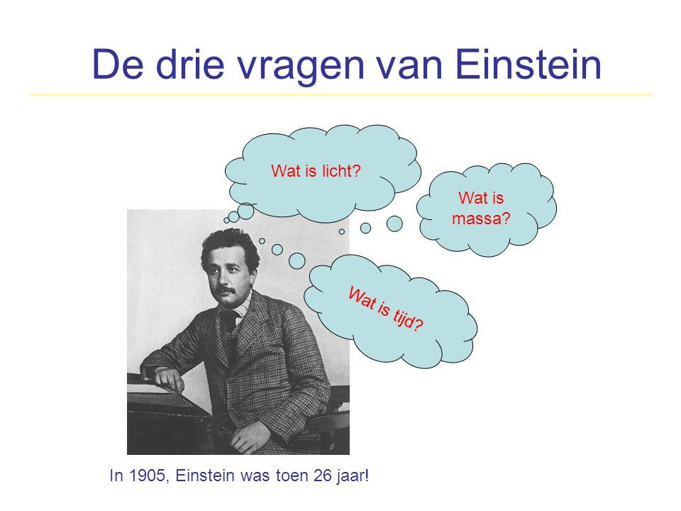 De drie vragen van Einstein