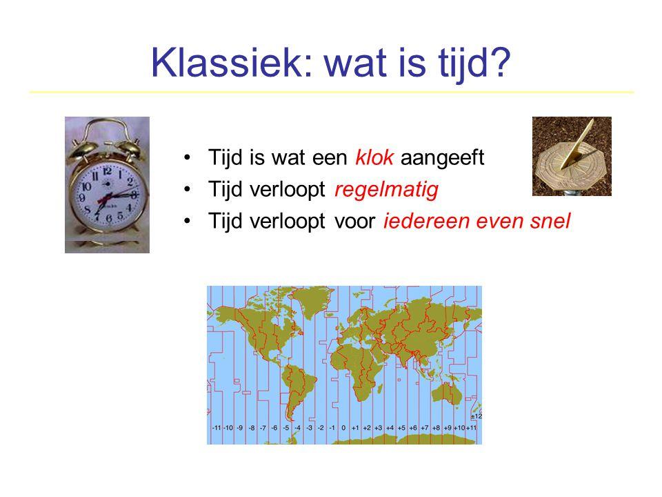 Klassiek: wat is tijd Tijd is wat een klok aangeeft
