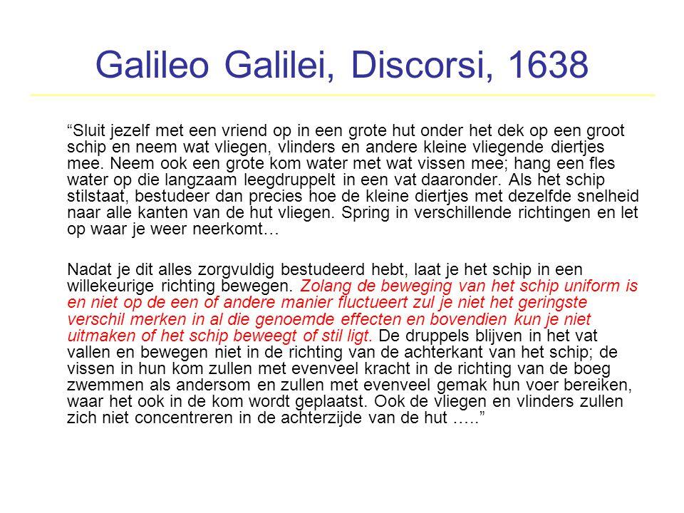 Galileo Galilei, Discorsi, 1638