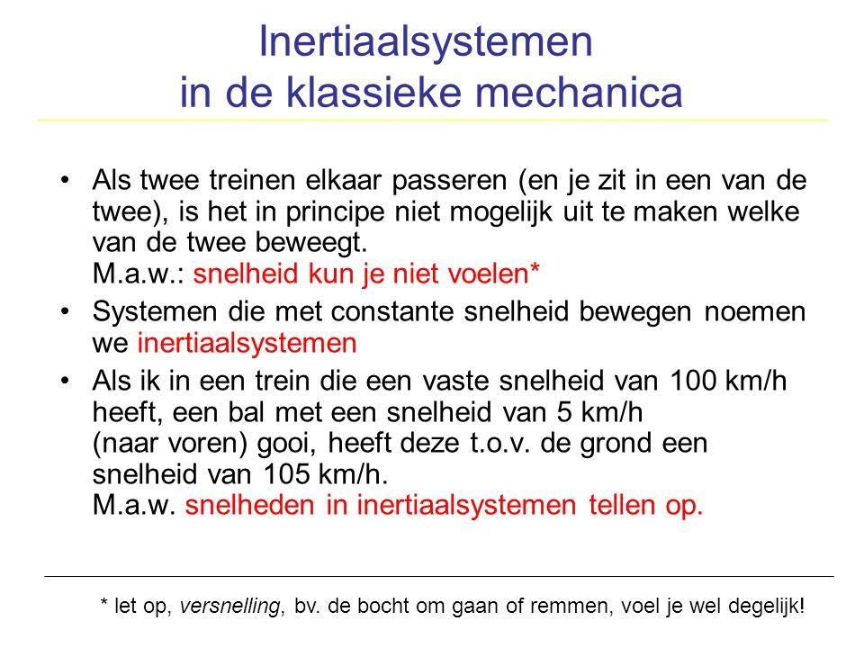Inertiaalsystemen in de klassieke mechanica