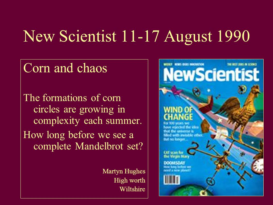 New Scientist 11-17 August 1990 Corn and chaos