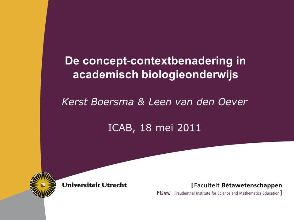 De concept-contextbenadering in academisch biologieonderwijs