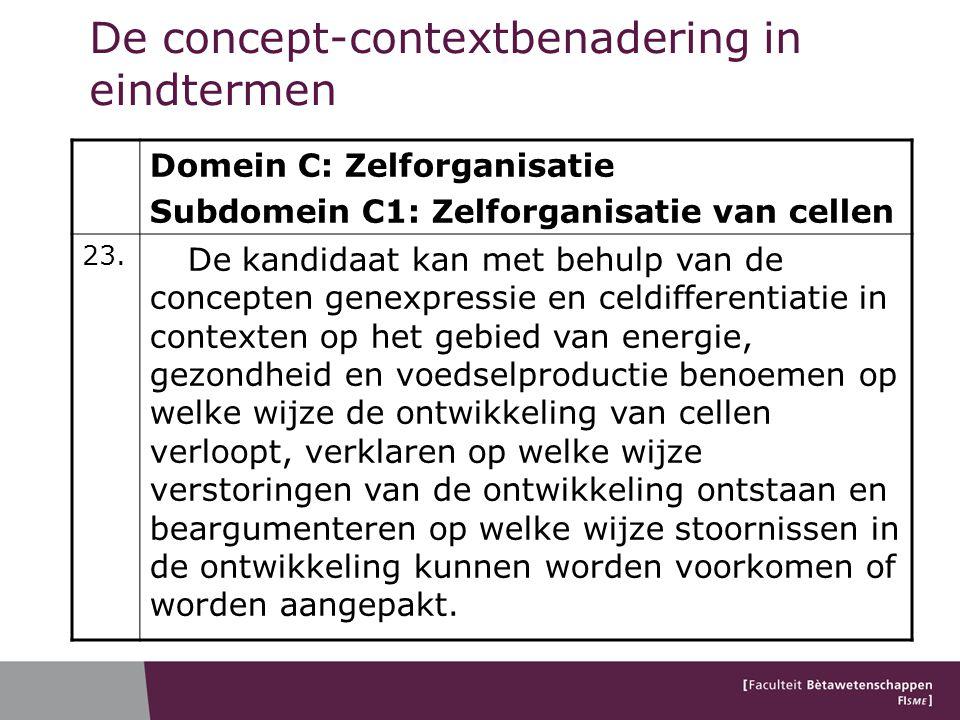 De concept-contextbenadering in eindtermen