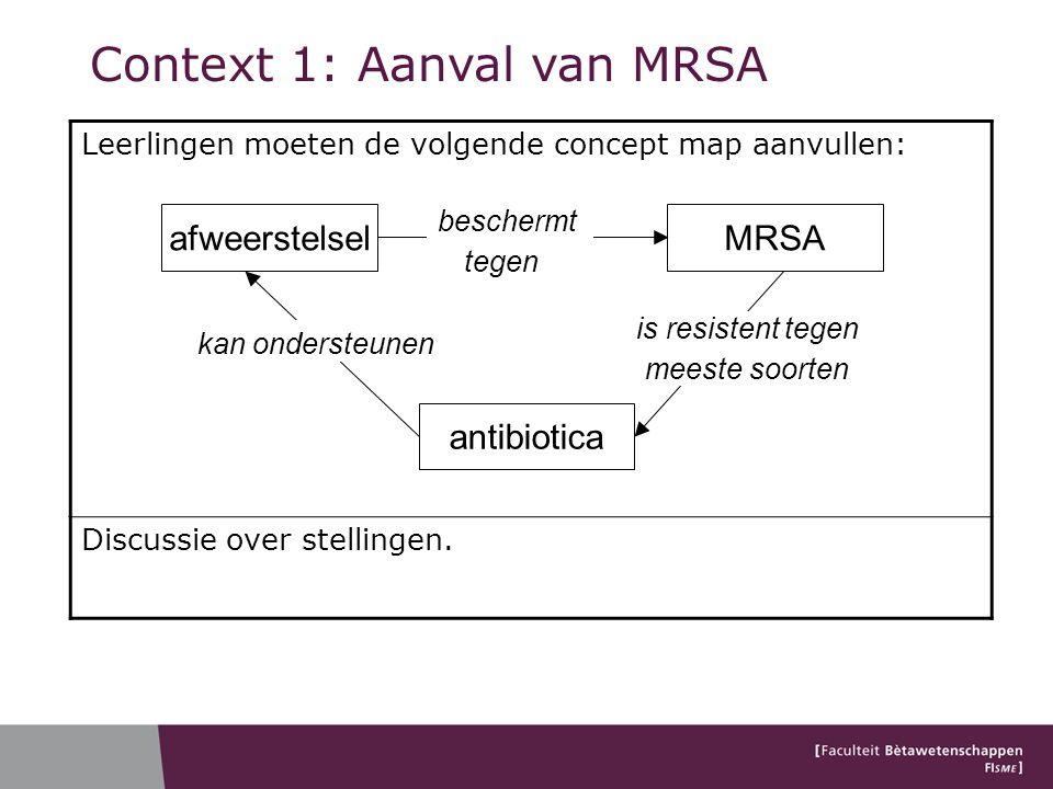 Context 1: Aanval van MRSA