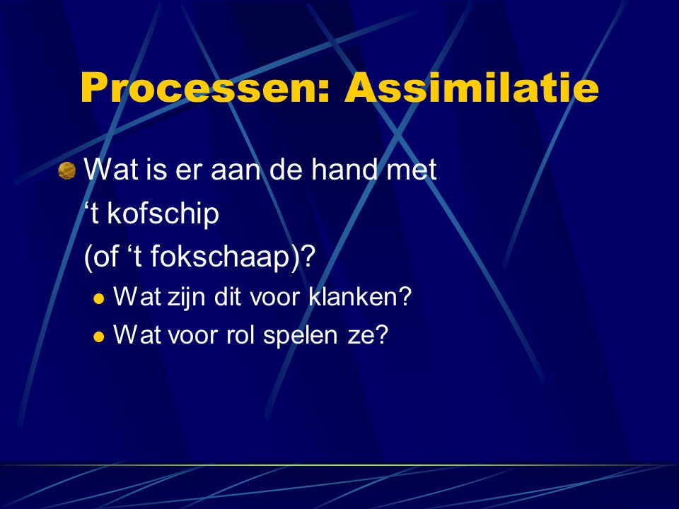 Processen: Assimilatie