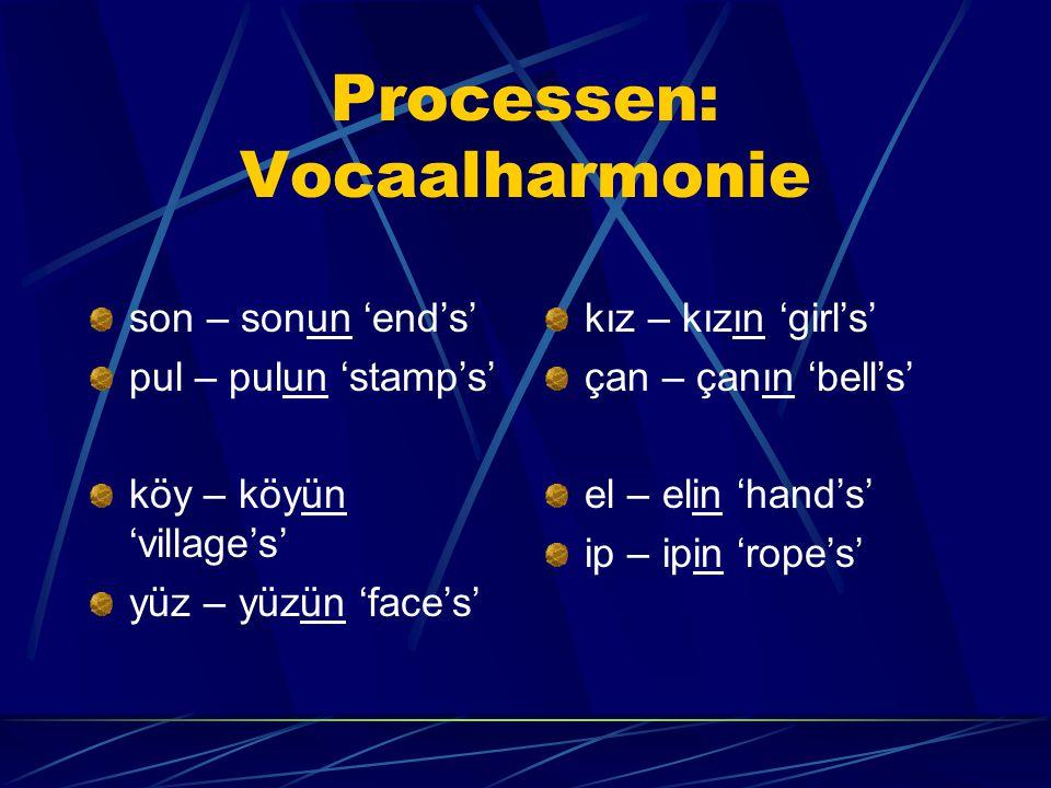 Processen: Vocaalharmonie
