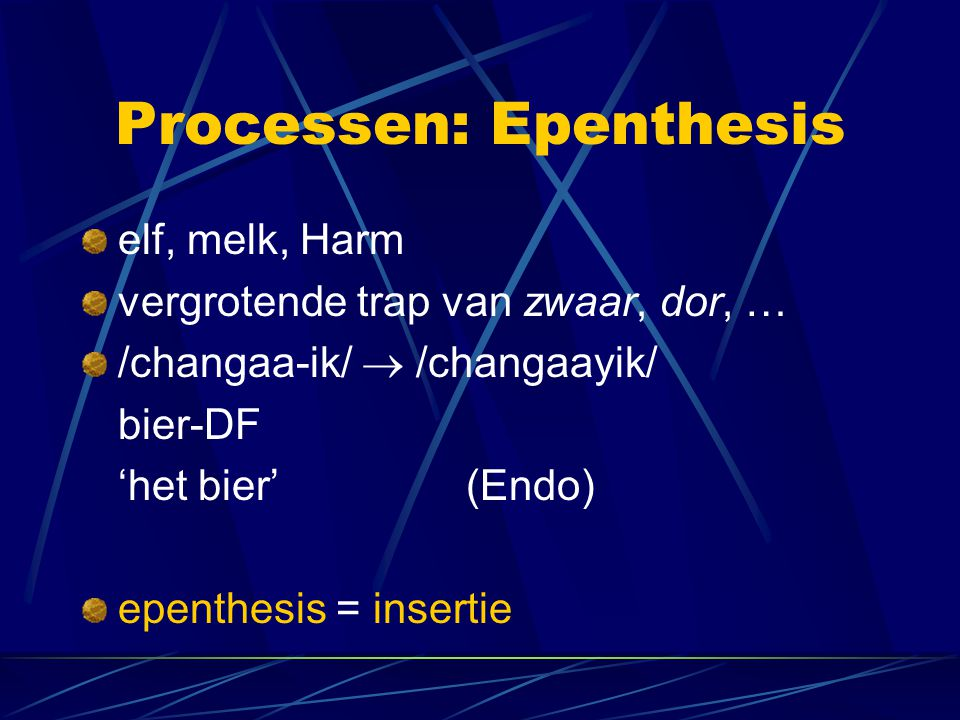 Processen: Epenthesis