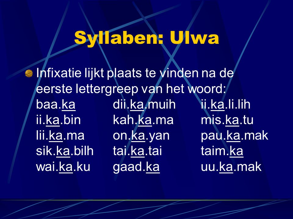 Syllaben: Ulwa