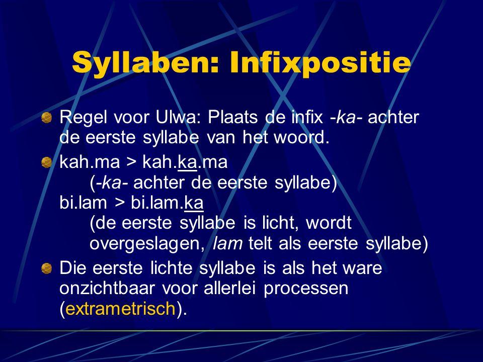 Syllaben: Infixpositie