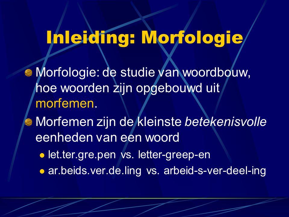 Inleiding: Morfologie