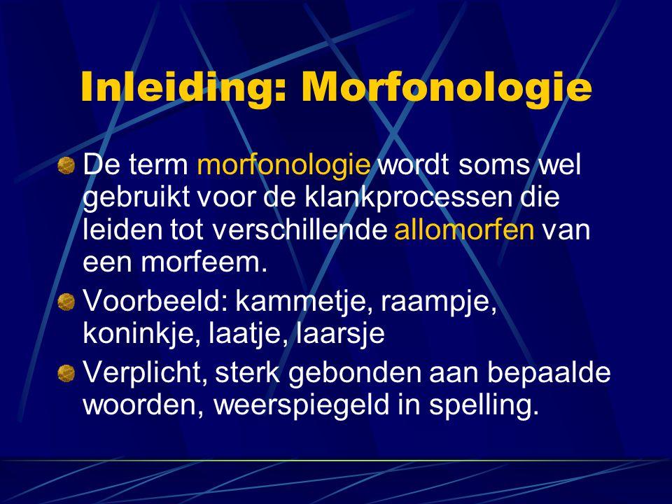 Inleiding: Morfonologie